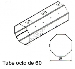 Tubes, barres de charge et seuils Tube Octo de Ø 60 mm x 0,6