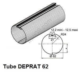Tubes, barres de charge et seuils Tube DEPRAT de Ø 62 mm x 0,6