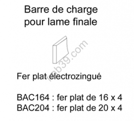 Tubes, barres de charge et seuils Barre de charge de 20 mm