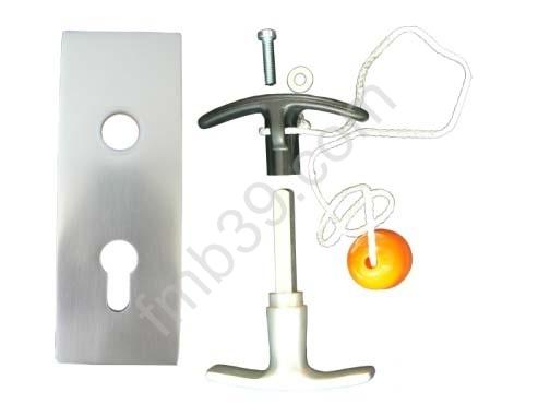 Ne3023 plaque de propret et poign e accessoires portes de garage portillons serrures - Accessoire porte sectionnelle ...